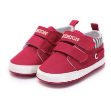 Baby Boys Striped Accent Velcro Strap Shoes - My Modern Kid