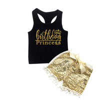 Birthday Princess Gold Glitter Set - My Modern Kid