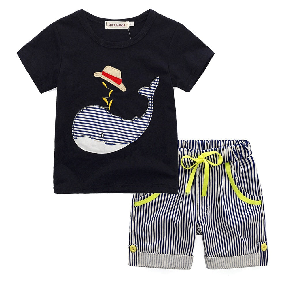 Cartoon Whale Boys Beach Set - My Modern Kid