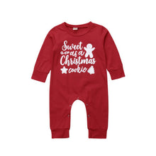 """Sweet As A Christmas Cookie"" Cotton Romper - My Modern Kid"