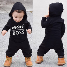 """Mini Boss"" Black Unisex Jumpsuit - My Modern Kid"