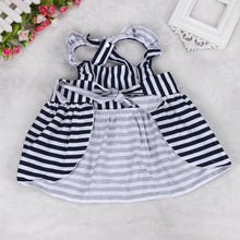 Baby Girls Backless Dress Bow With Cotton Briefs Set Clothing - My Modern Kid