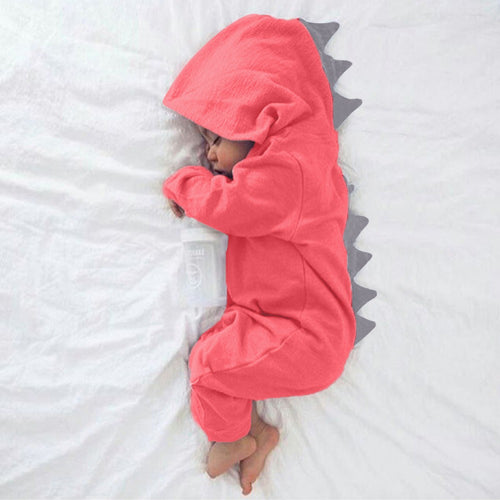 Dinosaur Spiked Cotton Romper (3 Colors) - My Modern Kid