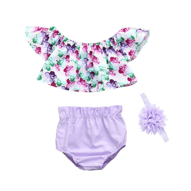 Floral Off-The-Shoulder 3-Piece Set - My Modern Kid