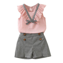 Girls Plaid Bowknot 2-Piece Set - My Modern Kid