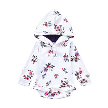 Baby Girls Floral Hooded Bodysuit - My Modern Kid