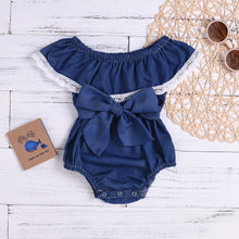Baby Girls Bowknot & Lace Bodysuit - My Modern Kid