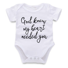 """ God Knew My Heart Needed You"" Onesie - My Modern Kid"