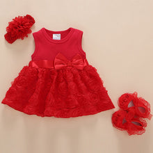 Like A Rose Princess Bowknot 3-Piece Set - My Modern Kid