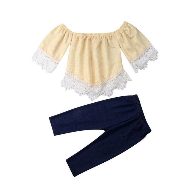 Girls Lace Top & Jeans Set - My Modern Kid