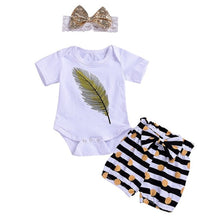 3-Piece Feathers & Polka Dots Set - My Modern Kid