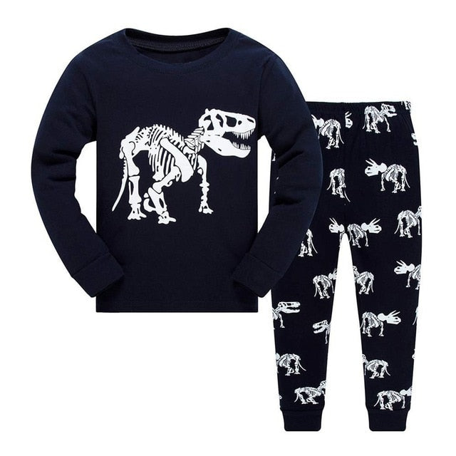Boys 2-Piece Dinosaur Print Pajama Set - My Modern Kid