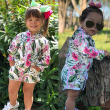 Girls Leaf Print Floral Tracksuit - My Modern Kid