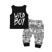 """Wild Boy"" Black & White Casual Set - My Modern Kid"