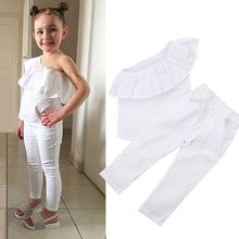"""Pretty In White"" Ruffle Off-The-Shoulder Set - My Modern Kid"
