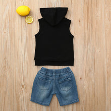 """Mini Boss"" Sleveless Hoodie & Shorts Set - My Modern Kid"