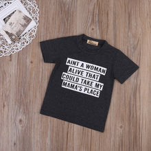 """Aint A Woman Alive"" Boys Summer Cotton Tee - My Modern Kid"