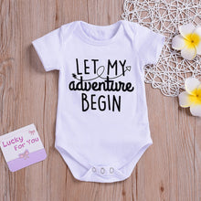 """Let My Adventure Begin"" Cotton Onesie - My Modern Kid"