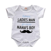 """Future Ladies Man, Present Mama's Boy"" Baby Onesie - My Modern Kid"