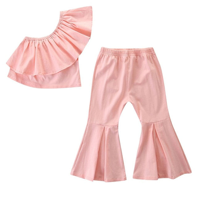 Girls Off-The-Shoulder Fashion Ruffle Set - My Modern Kid