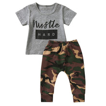 """Hustle Hard"" Boys Infant Camouflage Set - My Modern Kid"