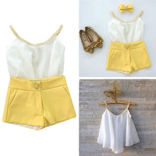 Girls Sleeveless Chiffon Shorts Set - My Modern Kid