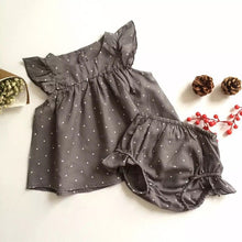 "Polka Dots & Gray"" Summer Baby Girls Set - My Modern Kid"
