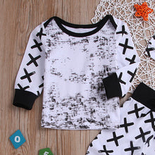 "Black On White"" Baby Boys Geometric Print Pullover Set - My Modern Kid"