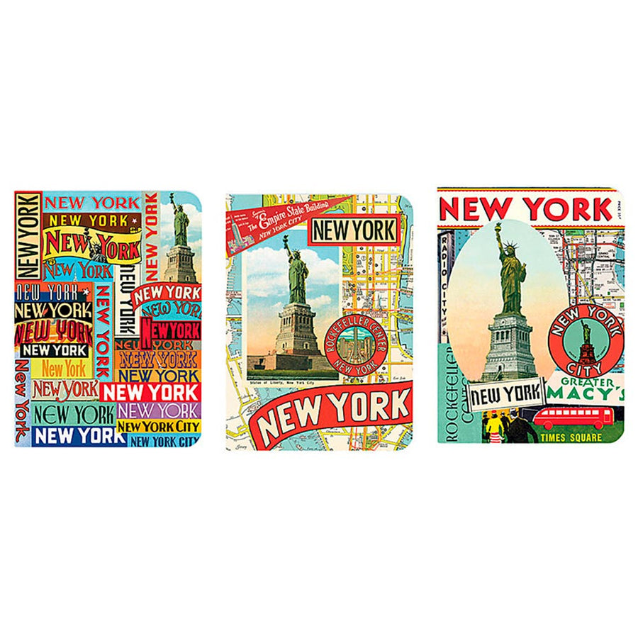 3 MINI LIBRETAS NEW YORK 10x14