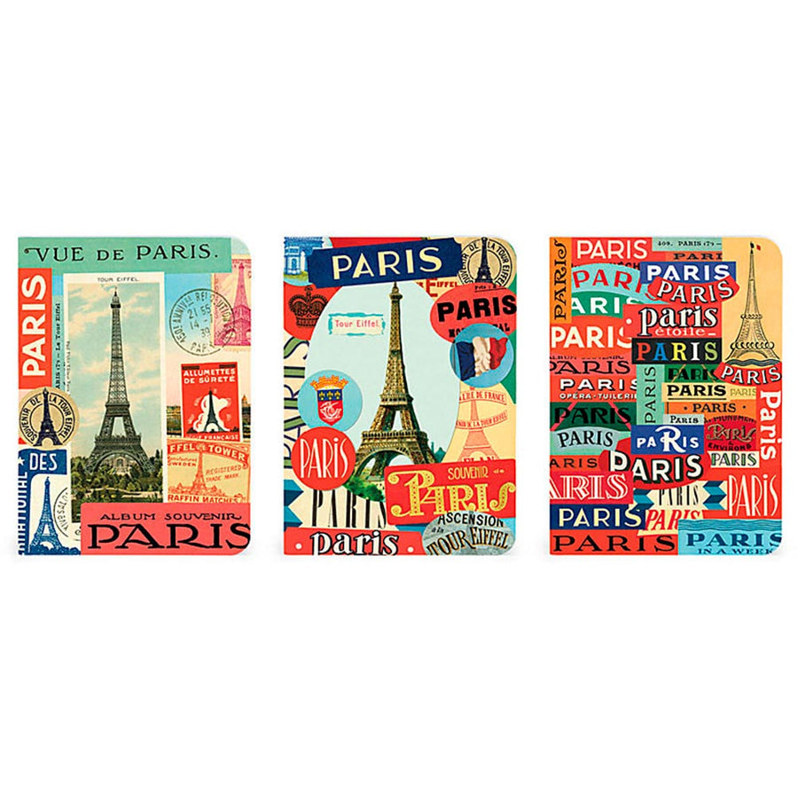 3 MINI LIBRETAS PARIS 10x14
