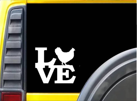 Chicken Love Decal Sticker *F157*