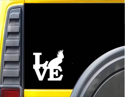 Cockatoo Love Decal Sticker *F179*