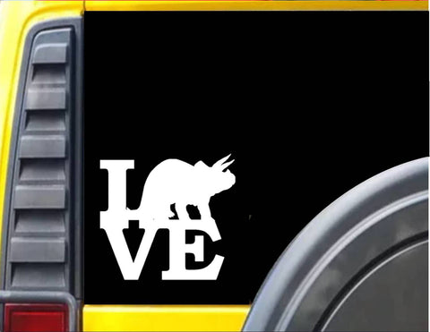 Triceratops Love Decal Dinosaur Sticker *H942* - The Safari Shoppe