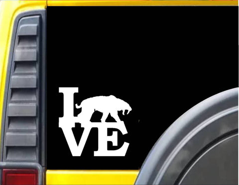 Saber Tooth Tiger Love Decal Sticker *H947* - The Safari Shoppe