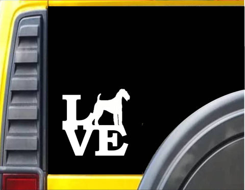 Airedale Love Decal Sticker *J332*
