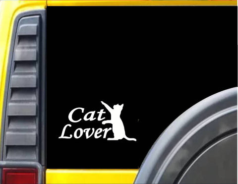 Cat Lover Decal Sticker *J117*