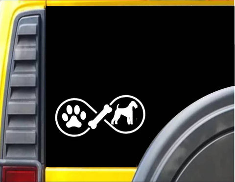 Airedale Infinity Decal Sticker *J415*