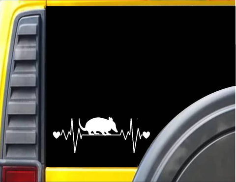 Armadillo lifeline heartbeat Decal Sticker *J554* - The Safari Shoppe