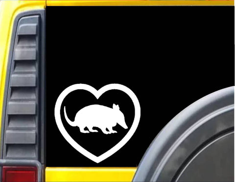 Armadillo Big Heart Decal Sticker *J556* - The Safari Shoppe