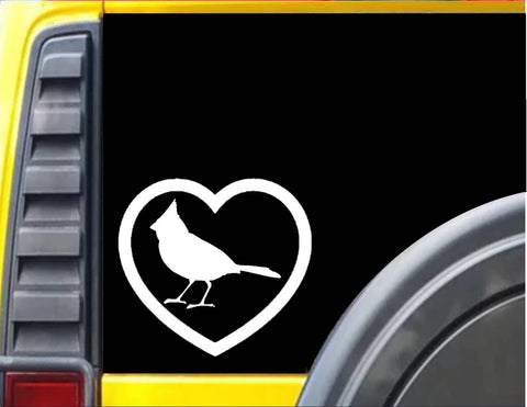 Cardinal Big Heart Decal Sticker *J559*