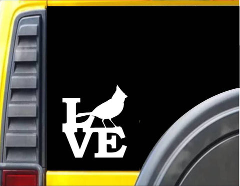 Cardinal Love Decal Sticker *J561*