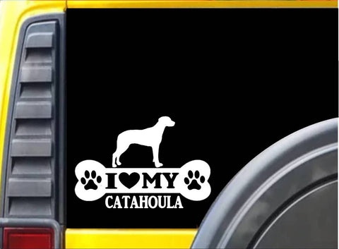 Catahoula Bone L113 8 inch Sticker Louisiana Catahoula dog decal - The Safari Shoppe