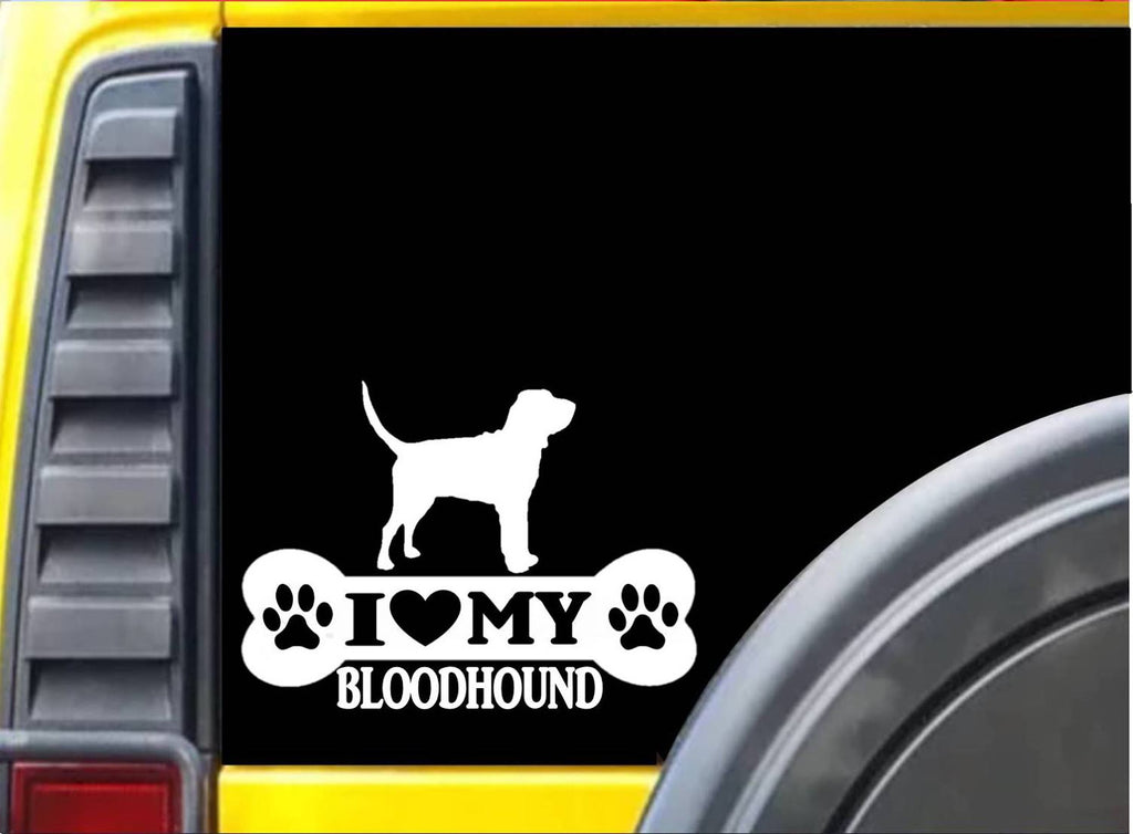 Bloodhound Bone L002 8 inch sticker dog decal - The Safari Shoppe