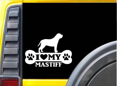 Mastiff Bone Sticker k078 8 inch english mastiff decal