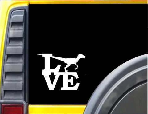 Velociraptor Love Decal Dinosaur Sticker *H946* - The Safari Shoppe