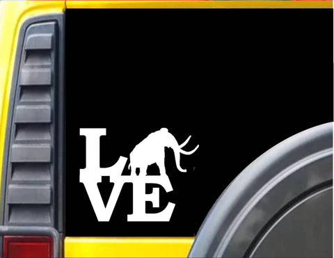 Mammoth Love Decal Sticker *H948* - The Safari Shoppe