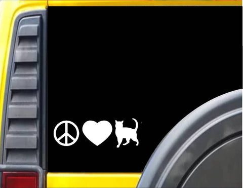 Peace Love Cat Decal Sticker *H046*