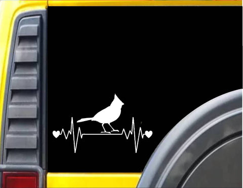 Cardinal Lifeline Heartbeat Decal Sticker *J562* - The Safari Shoppe