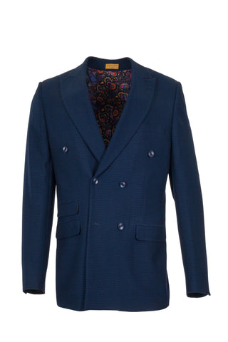SPRING DOUBLE BREASTED BLUE BLAZER