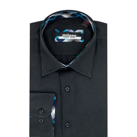 MILANO SOLID SPORT SHIRT BLACK
